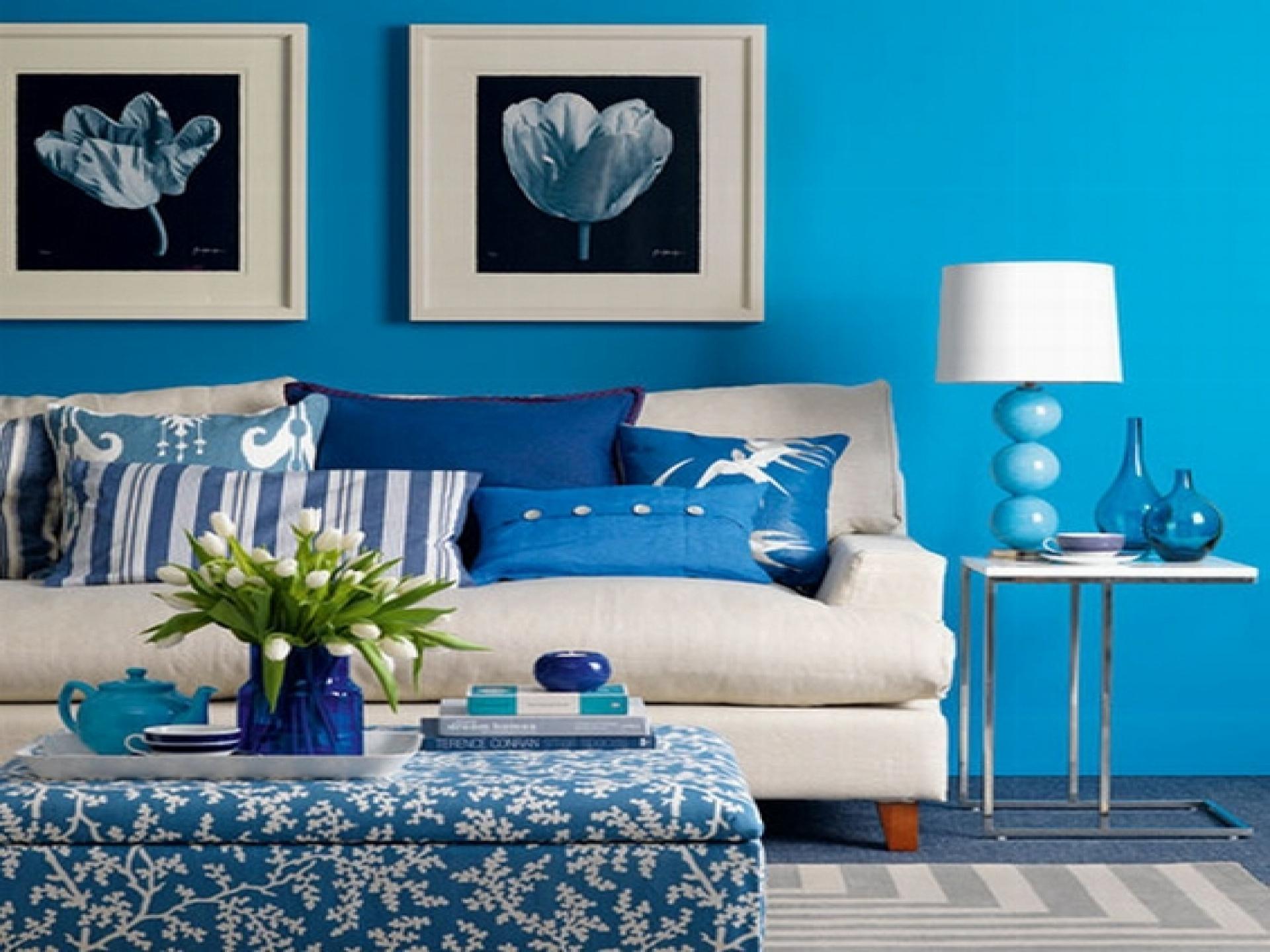 Distintos azules para relajar el ambiente - decordsgn.com