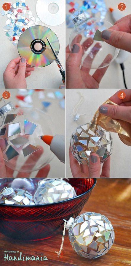 Adornos navide os con materiales reciclados construir tv for Ideas para hacer cosas de navidad