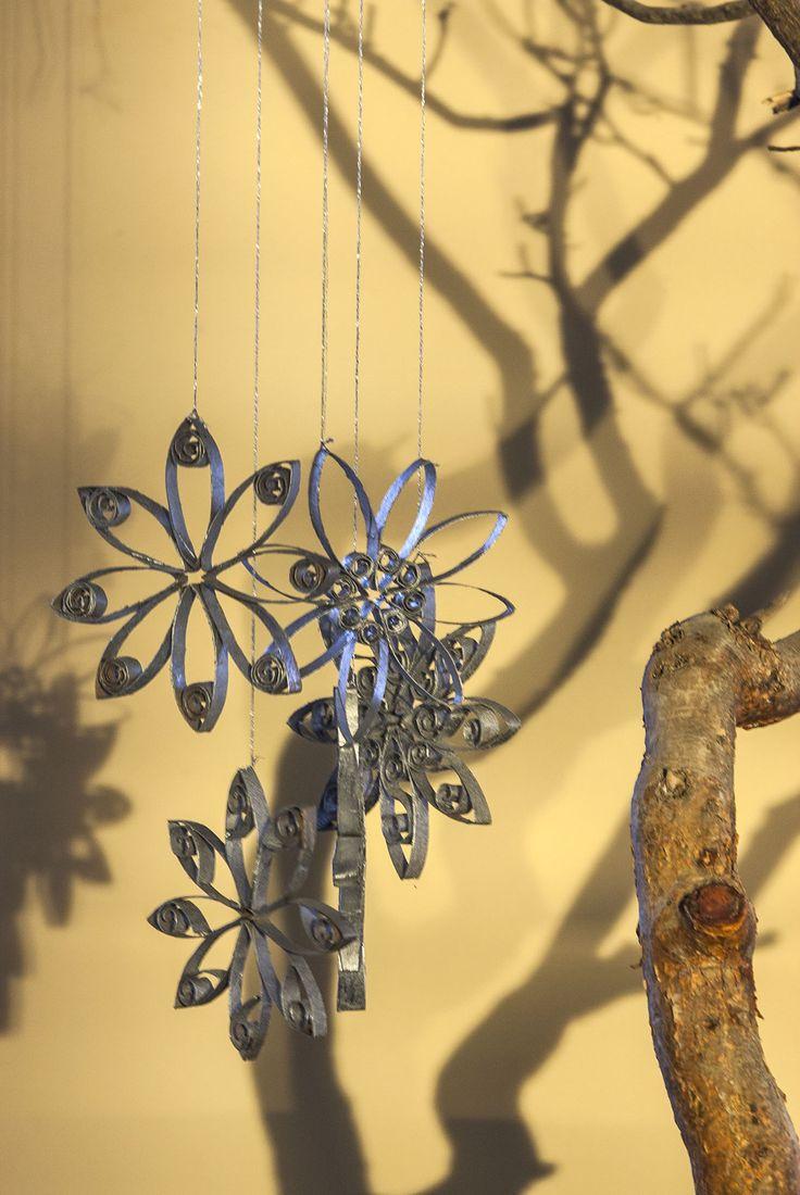 Adornos navide os con materiales reciclados construir tv - Rollos de papel higienico decorados ...