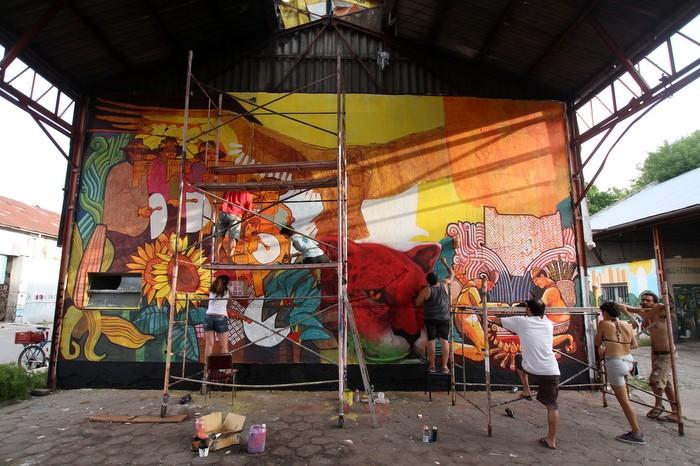 Dan Silva (México), Marcelo Carpita (Argentina) y Matías Muxi (Argentina) / Buenos Aires Street Art
