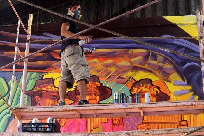 Dan Silva, el organizador del proyecto / Buenos Aires Street Art