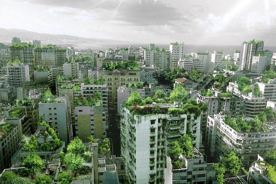 Un render del proyecto Beirut Wonder Forest .