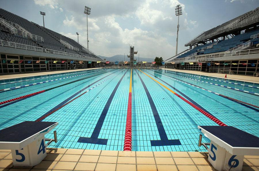 Esta imagen de 2004 es del bello centro acuático.