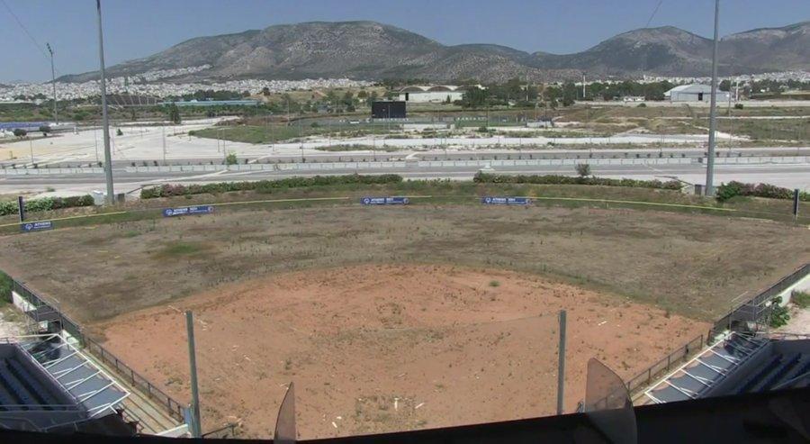 El estado de la villa olímpica en Atenas.