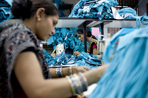 Photographer: Claudia Janke (tel: +44 (0) 7971253761) India,2009 - Gap factory visit, New Delhi